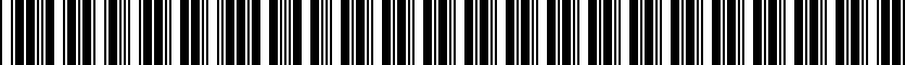 Barcode for 9870-66