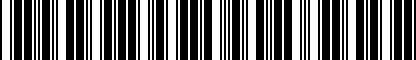 Barcode for LAPBELT74