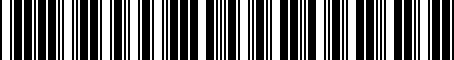 Barcode for MPA-W10200