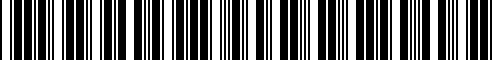 Barcode for AA68CL00056