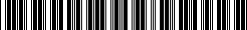 Barcode for AA68CRP0020