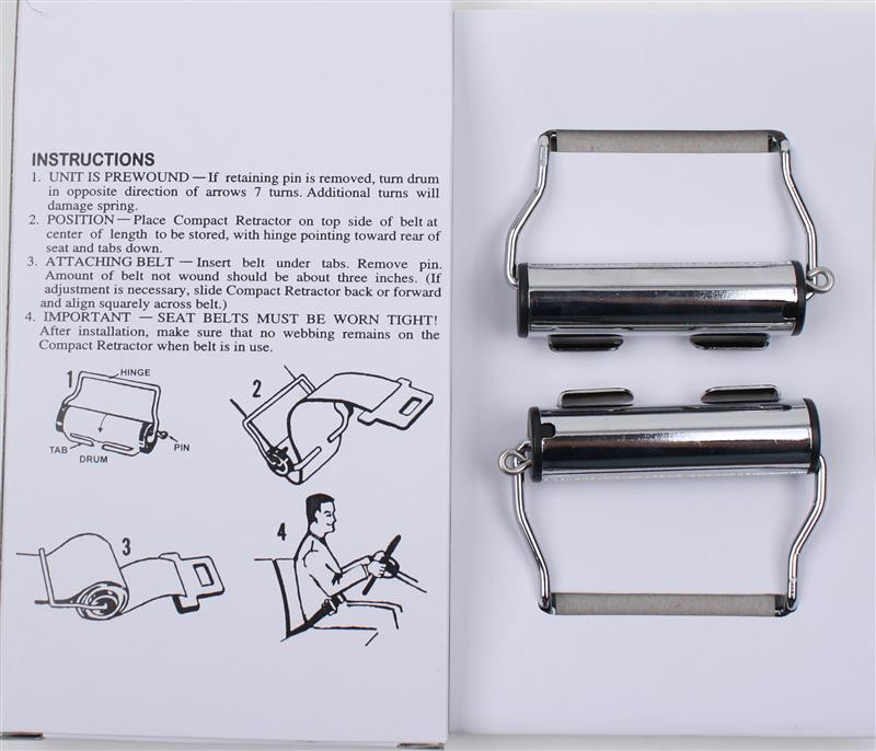 Seat Belts, Chrome Winder, Non Locking Clip on Retractor,Pair image for your 1969 VW